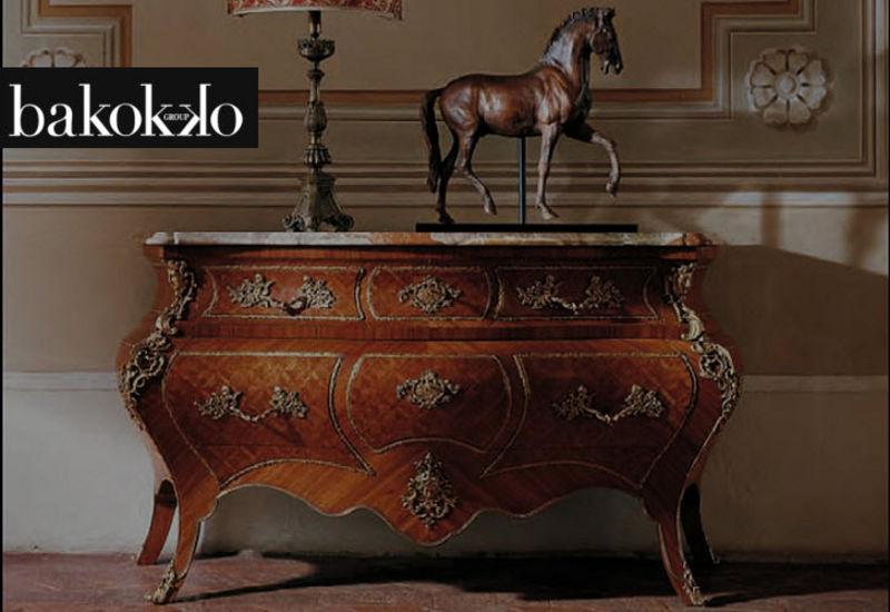 Bakokko Group Cómoda en tombeau Cajoneras Armarios Cómodas Salón-Bar | Clásico