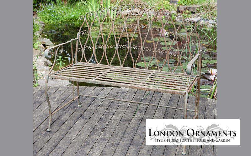 LONDON ORNAMENTS Banco de jardín Bancos Jardín Mobiliario Jardín-Piscina | Rústico