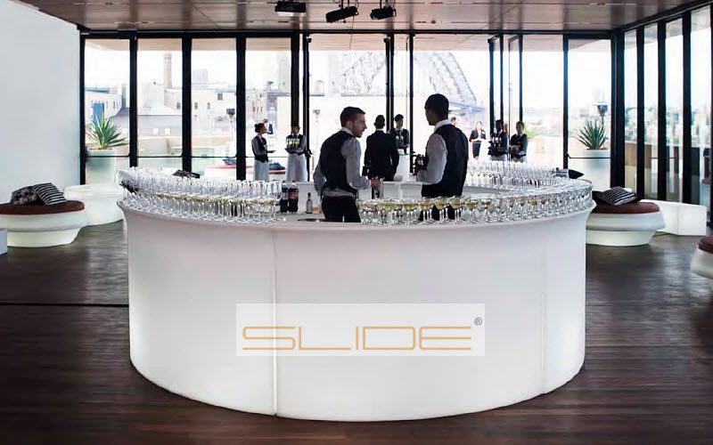 Slide Barra de bar luminosa Bar Mesas & diverso Lugar de trabajo | Design Contemporáneo