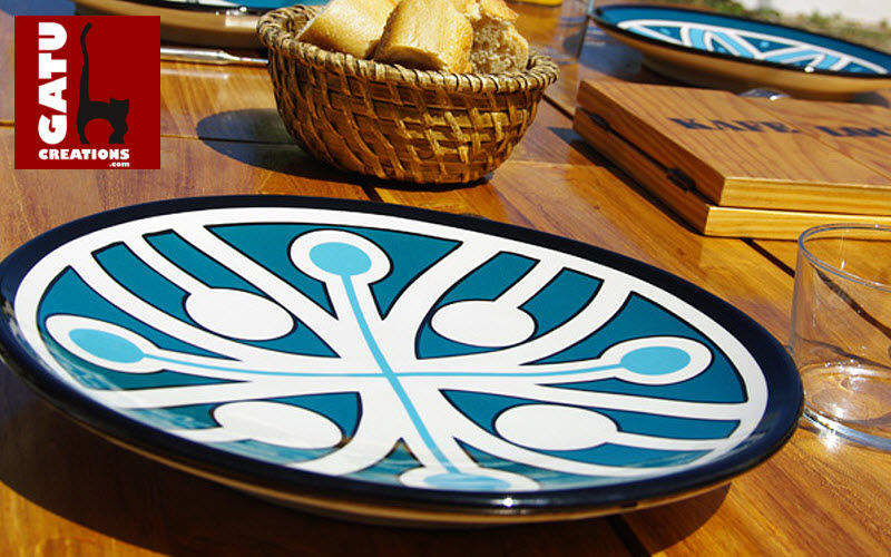 GATU CREATIONS Plato llano Presenta-platos Vajilla  |