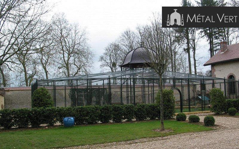 METAL VERT Pajarera Varios Exterior Jardín Diverso Jardín-Piscina | Clásico