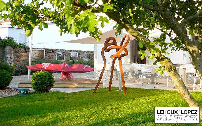Baleak Banco de jardín Bancos Jardín Mobiliario Terraza | Design Contemporáneo