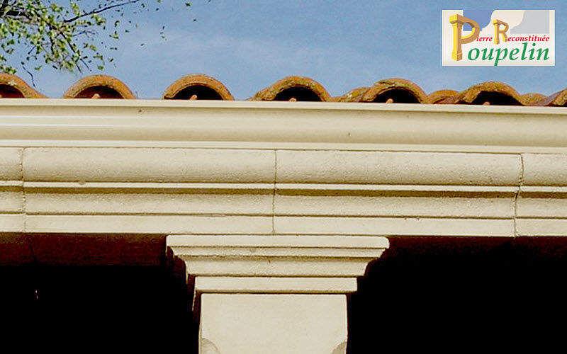 POUPELIN PIERRE RECONSTITUEE Cornisa de fachada Fachada y tejado Jardín Cobertizos Verjas...  |