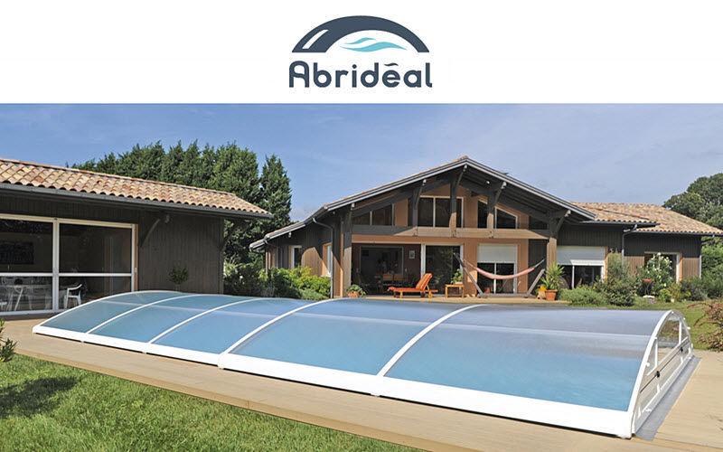 Abrideal Cobertizo de piscina rodable o telescópico Cabinas de piscina Piscina y Spa  |