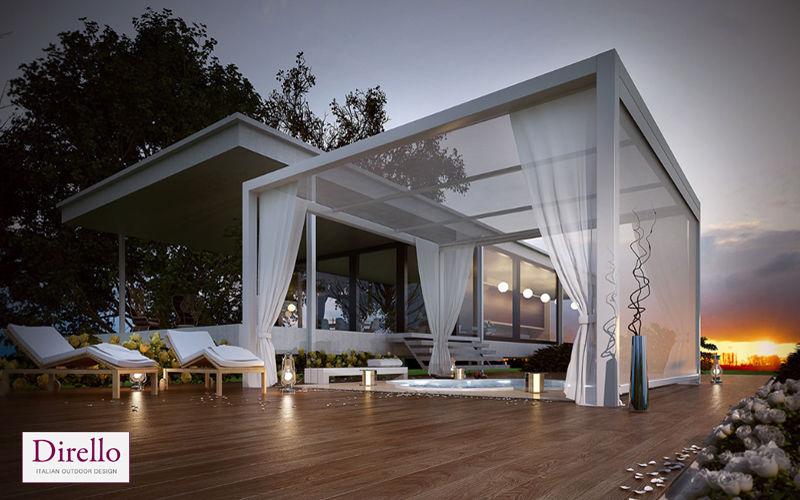 DIRELLO Cubierta para terraza Sombrillas y estructuras tensadas Jardín Mobiliario   