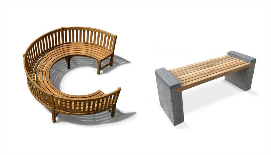 Lindsey Plantation Teak Banco de jardín Bancos Jardín Mobiliario Jardín-Piscina | Design Contemporáneo
