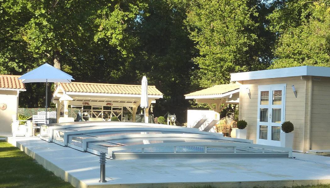 Abri-Integral Cobertizo de piscina rodable o telescópico Cabinas de piscina Piscina y Spa  |