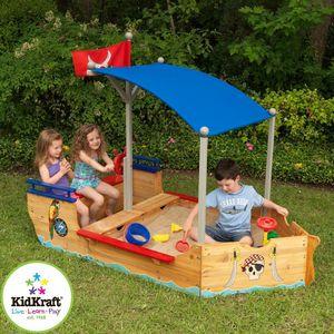 KidKraft - bac à sable bateau pirate - Parque De Arena