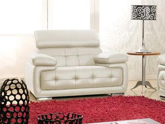 WHITE LABEL - fauteuil cuir san marco - Sillón
