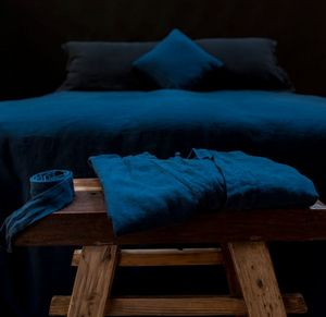 Couleur Chanvre - bleu de nîmes - Albornoz De Mujer