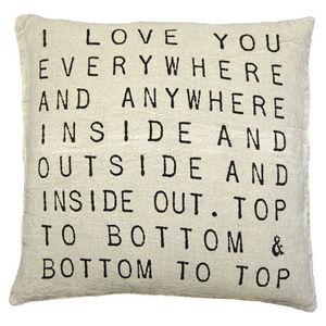 Sugarboo Designs - pillow collection - i love you everywhere - Cojín Cuadrado