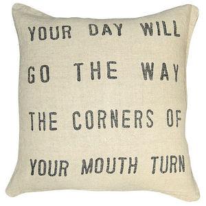 Sugarboo Designs - pillow collection - black your day will go - Cojín Cuadrado