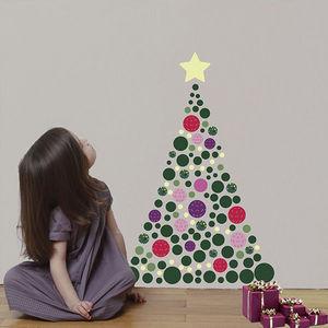 ART FOR KIDS - sticker sapin de noël et guirlande phosphorescente - Decoración De Árbol De Navidad