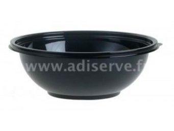 Adiserve - saladier 1.5l et couvercle par 5 couleurs noir - Vajilla Desechable Navidad Y Fiestas