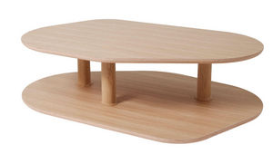 MARCEL BY - table basse rounded l naturel by samuel accoceberr - Mesa De Centro Forma Original