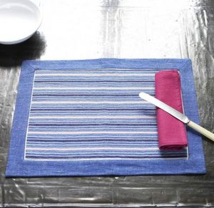 A CASA BIANCA - arezzo blue placemat - Mantel Individual