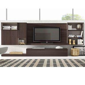 Antaix - meuble tv mural - Mueble Tv Hi Fi