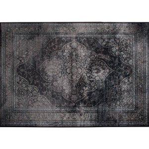 WHITE LABEL - tapis style persan rugged noir de zuiver 170 x 240 - Alfombra Contemporánea