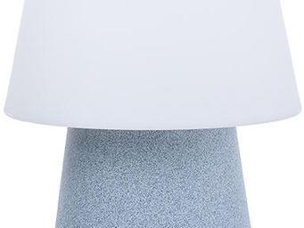 8 Seasons Design - lampe design changement couleur led gris pierre - Lámpara De Sobremesa