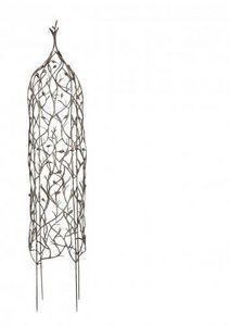 Demeure et Jardin - obelisque pour plantes grimpantes en fer forgé - Obelisco De Jardín