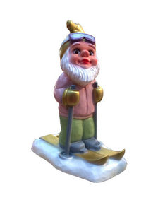 HIRSCHGLÜCK MADE IN GERMANY - skiing gnome - Decoración De Mesa