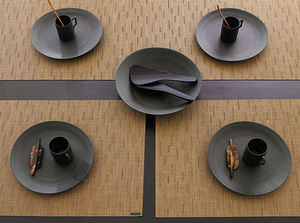 CHILEWICH - bamboo amber placemats and runner - Mantel Individual