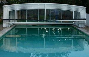 Abri piscine POOLABRI - mi-haut - Cubierta De Piscina Alta Corredera O Telescópica
