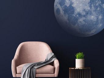 PAPERMINT - lune bleu - Adhesivo