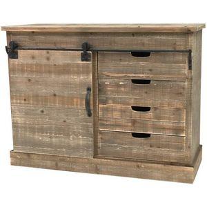 CHEMIN DE CAMPAGNE - bahut console commode meuble de cuisine bois campa - Aparador Bajo