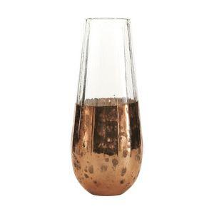 BOIS DESSUS BOIS DESSOUS - soliflore en verre et métal vieilli - Búcaro
