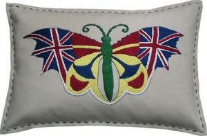 Barbara Coupe - union jack butterfly - Cojín Rectangular