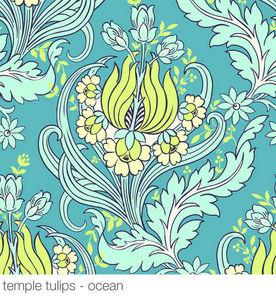 AMY BUTLER - temple tulips ocean - Papel Pintado