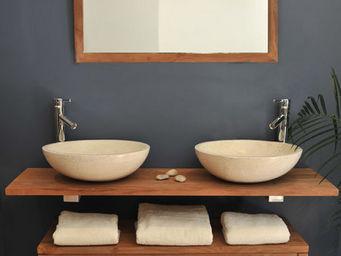 SANITECK - meuble de salle de bain en teck eleganzia - Mueble De Ba�o Dos Senos