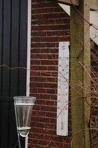 WORLD OF WEATHER - pluviomètre en verre et zinc gradué 11,5x131cm - Pluviómetro