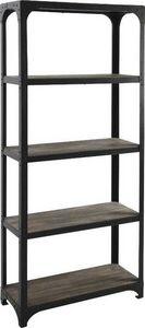 Aubry-Gaspard - etagère en métal et bois en 5 niveaux 86x36x205cm - Estantería