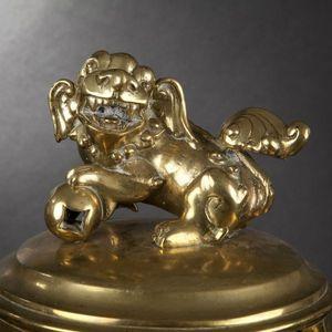Expertissim - brûle-parfum en laiton. vietnam, xixe siècle - Quemador De Perfume