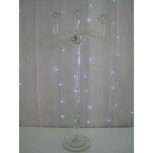 DECO PRIVE - chandelier a 5 branches en cristal grand modele - Candelabro