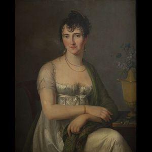 Expertissim - attribué à constance-marie charpentier. portraits  - Retrato