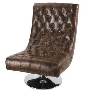 MAISONS DU MONDE - fauteuil cuir bossley - Silla Baja