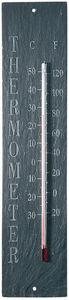 Esschert Design - thermomètre d'extérieur en schiste 10,5x45x0,5cm - Termómetro