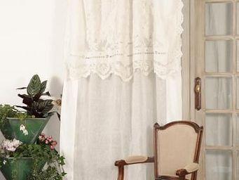 Coquecigrues - rideau à cantonnière reine blanc - Cortina Confeccionada