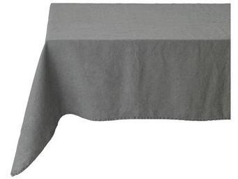 Athezza Home - nappe lin lav� gris 150x250cm - Mantel Rectangular
