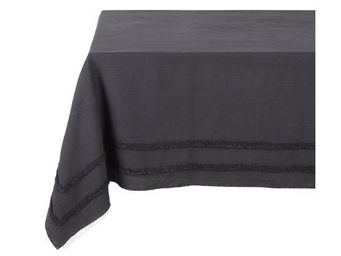 Athezza - nappe riga anthracite 150x250cm - Mantel Rectangular