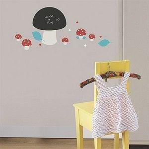 Nouvelles Images - stickers ardoise champignons nouvelles images - Adhesivo