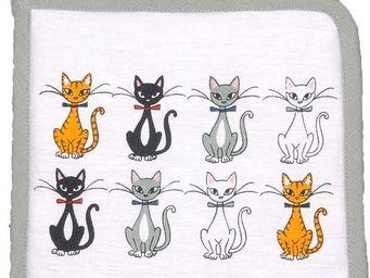 SIRETEX - SENSEI - manique imprimé chat chic blanc - Manopla