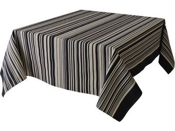 Les Toiles Du Soleil - nappe carrée tom black - Mantel Cuadrado