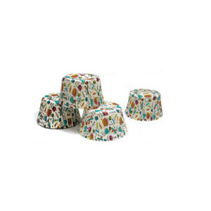 WHITE LABEL - 100 moules de cuisson en papier décoré - Molde Para Pasteles
