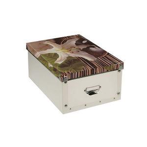 WHITE LABEL - boîte pliable zénitude motif lys du roi - Caja