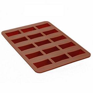WHITE LABEL - moules à chocolat rectangle silicone de qualité pr - Molde Para Pasteles