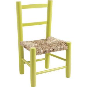 Aubry-Gaspard - petite chaise bois pour enfant anis - Silla Para Niño